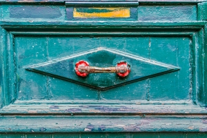 Red Handle Blue Door - Fine Art Photography - Scotland - Ewan Mathers