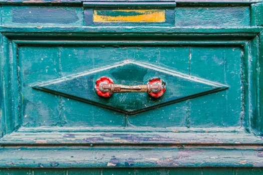 Red Handle Blue Door - Fine Art Photography - Scotland - Ewan Mathers